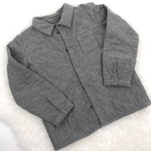 COS Boy's Quilted Snap Front ShirtJack SZ 4-6 Yrs